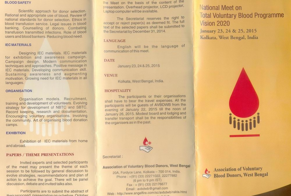 National Meet on Total Voluntary Blood Programme Vision 2020