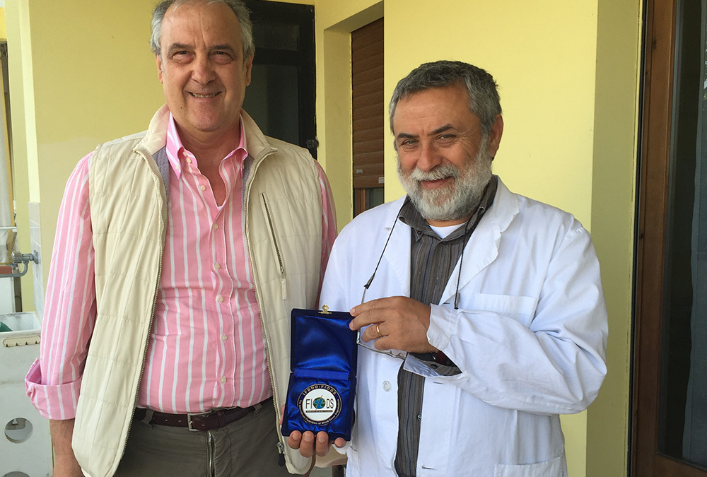 IFBDO President Mr Gian Franco Massaro awarded the Doctor Dante De Berardinis