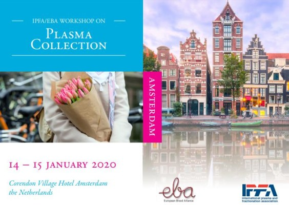 Workshop on Plasma Collection in Amsterdam – Netherlands, 14-15 January 2020