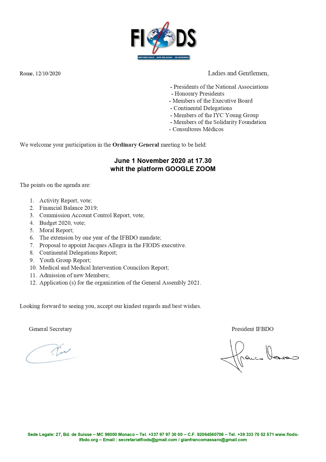 Ordinary General meeting 2021